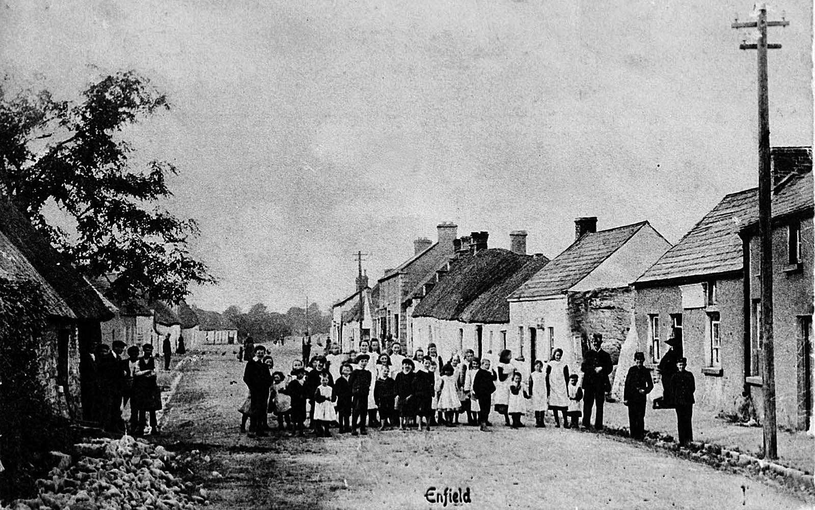 Pupils of Enfield National School and Residents in early 1900's